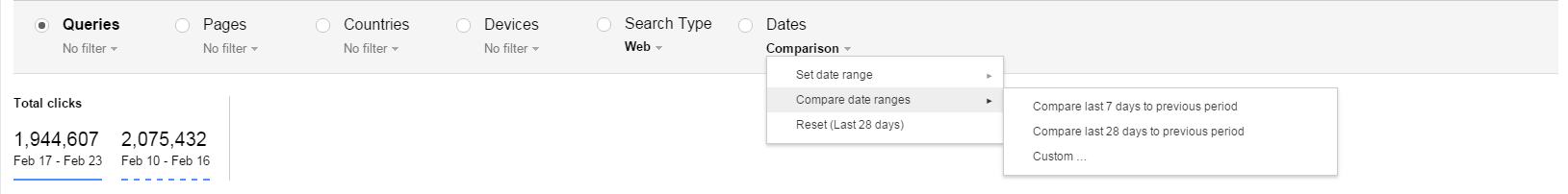 google-webmaster-tools-compare-dates