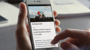 Facebook Instant Article viewed on smartphone